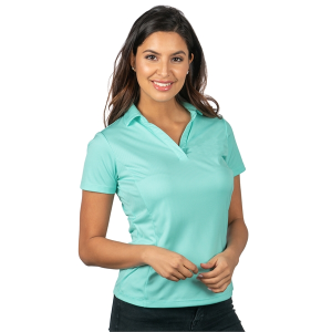 Sybil Women's Micro Striped Performance Polo